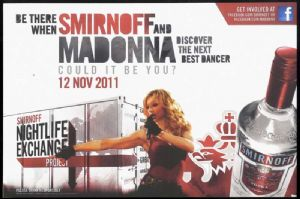 MDNA / SMIRNOFF  - PROMO DISPLAY COUNTER STAND